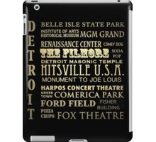 Detroit Michigan Famous Landmarks iPad Case/Skin