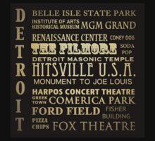 Detroit Michigan Famous Landmarks T-Shirt