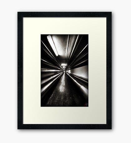 Brewery Tunnel Framed Print