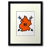 Brooklyn Hipster [Orange] Framed Print