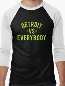 Detroit VS Everybody | Volt Men's Baseball ¾ T-Shirt