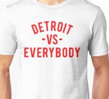 Detroit VS Everybody | Red Unisex T-Shirt