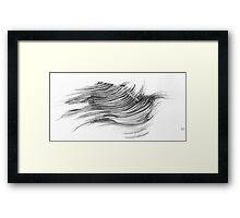 wave needle Framed Print