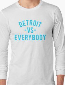 Detroit VS Everybody | Cyan Long Sleeve T-Shirt
