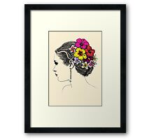 summer bride Framed Print