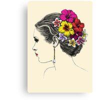 summer bride Canvas Print