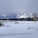 Grand Teton Winter Panorama by Stephen Vecchiotti