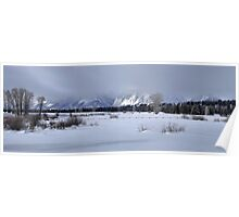 Grand Teton Winter Panorama Poster