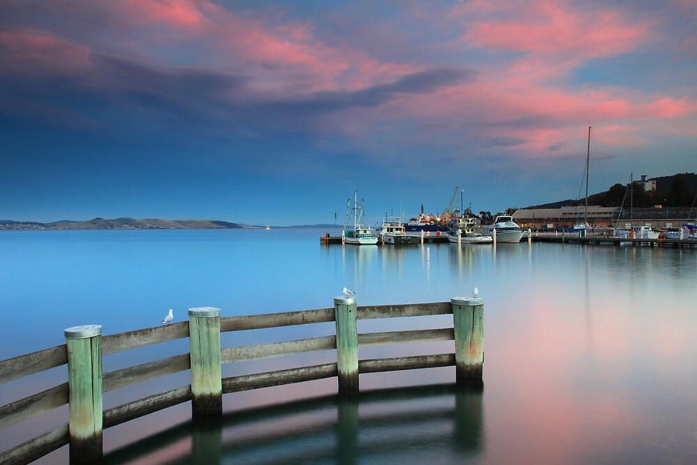 Sunset on the Docks by Cameron B