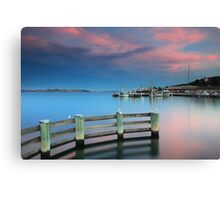 Sunset on the Docks Canvas Print
