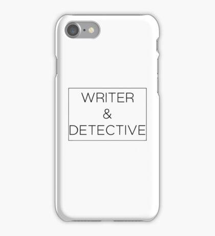Writer & Detective iPhone Case/Skin