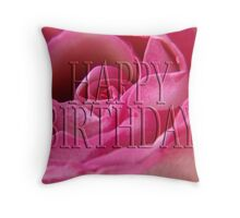 happy birthday (for lensbaby) Throw Pillow