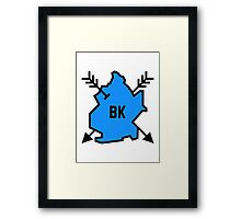 Brooklyn Hipster [Blue] Framed Print