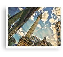 Monument in watercolour Canvas Print