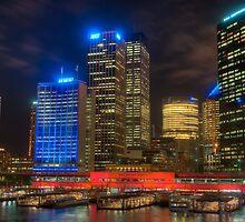 Circular Quay lit for Vivid Sydney 2011 by Erik Schlogl