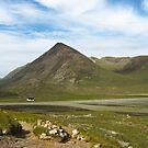 Mountain huts under Bla Bheinn, Isle of Skye. by Andrew Briffett