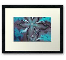 Aquafleur Fractal Framed Print