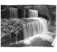 Waterfall in Skipton Woods Poster