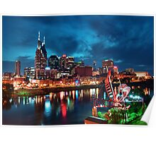 Nashville In The Evening Poster