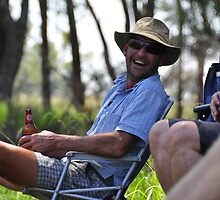 Enjoying a beer by Leigh Monk