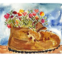Retired Hiking Boot Photographic Print