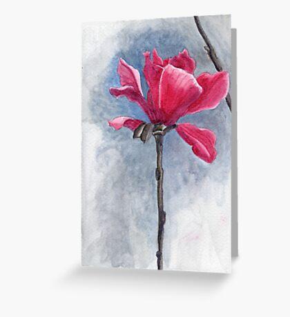 """Magnolia """"Vulcan"""" Greeting Card"""