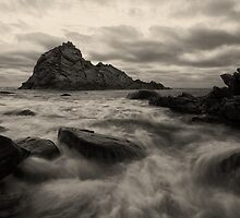 Sugarloaf Rock B+W by Chris Paddick