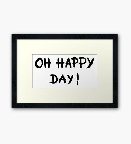 Oh happy day! - OneMandalaAday Framed Print