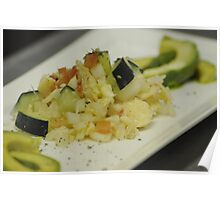 Salted Fish with Fresh Avocado Poster