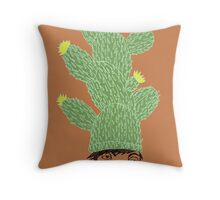 Cactus Hat Hipster Street Wear Throw Pillow