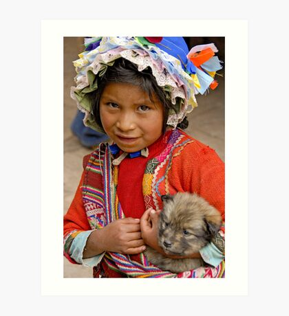 Peruvian girl Art Print