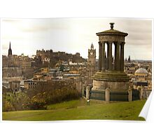 Edinburgh skyline from Calton Hill Poster
