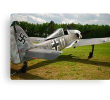 Focke Wulf FW-190 A-6 White 11 Canvas Print