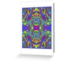 Mandala Blue Greeting Card