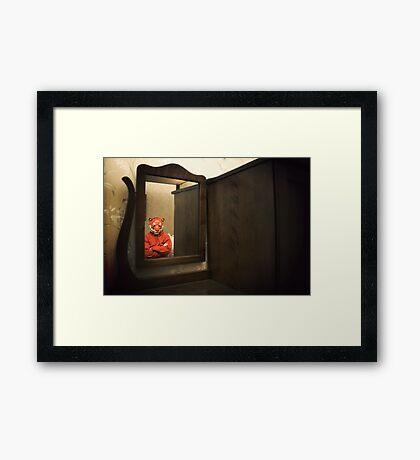 He Waits Silently  Framed Print