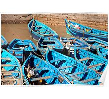 blue boats Poster