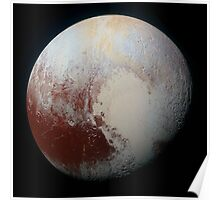 PLUTO - New hi-res image from NEW HORIZONS spacecraft Poster
