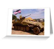 WWII German Halftrack Greeting Card