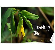 Unceasingly Pray ~ 1 Thessalonians 5:17  Poster
