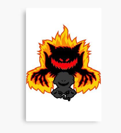 Demon Gamer Canvas Print