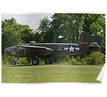 1944 North American B-25J-25-NC Mitchell Poster