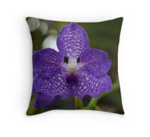 Dark Purple Orchid - NYBG Orchid Show 2011 Throw Pillow