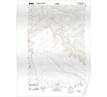 USGS Topo Map Oregon Rodman Rim 20110829 TM Poster