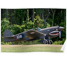 """1941 Curtise P40E """"Kittyhawk"""" Poster"""