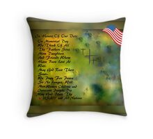 MEMORIAL DAY TRIBUTE..HOPES OF PEACE Throw Pillow