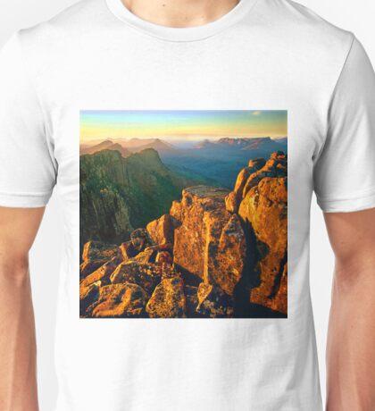 Sunset over the Ducane Range Unisex T-Shirt