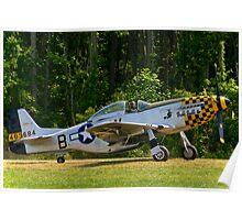 1945 North American P-51D Mustang Poster