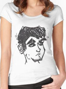 random guy Women's Fitted Scoop T-Shirt