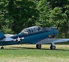 1943 North American SNJ-4 by Robert Burdick