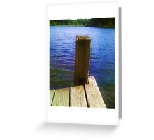 Sitting on the Dock of the Lake Greeting Card